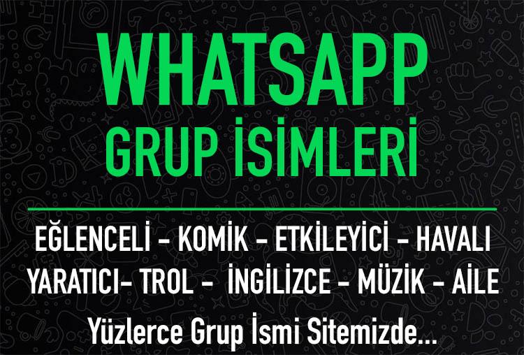 whatsapp grup isimleri