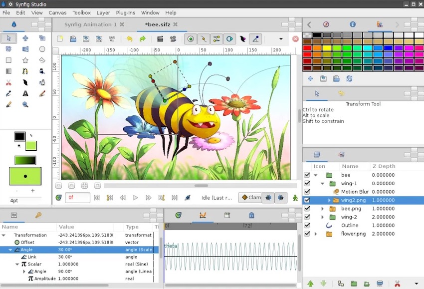 synfig studio animasyon programı
